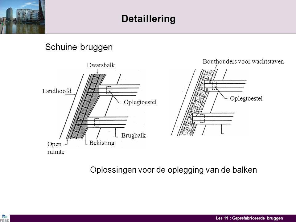 Les 11 : Geprefabriceerde bruggen Geprefabriceerde randprofielen Voorbeelden van speciale profielen
