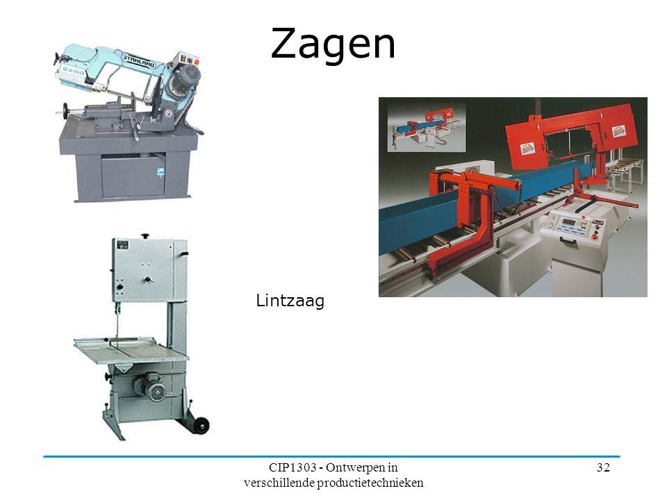 CIP1303 - Ontwerpen in verschillende productietechnieken 32 Zagen Lintzaag