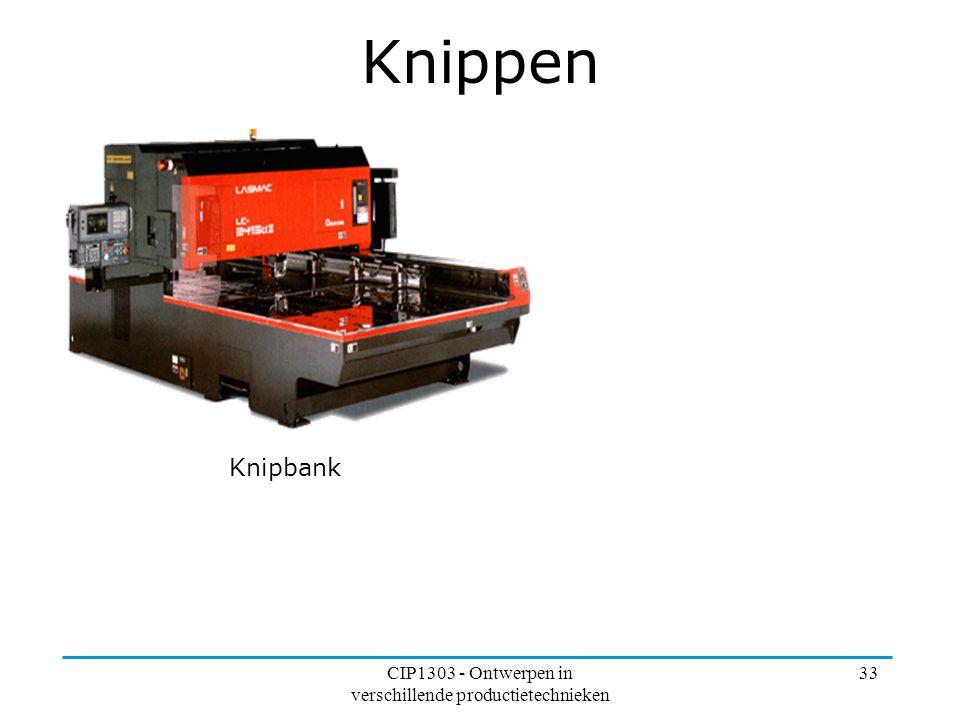 CIP1303 - Ontwerpen in verschillende productietechnieken 33 Knippen Knipbank