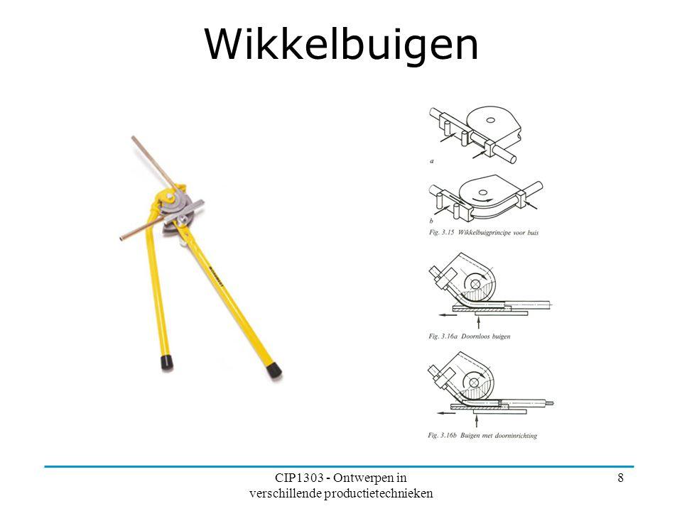 CIP1303 - Ontwerpen in verschillende productietechnieken 8 Wikkelbuigen