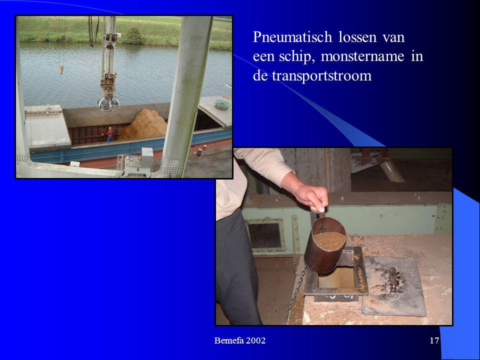 Bemefa 200217 Pneumatisch lossen van een schip, monstername in de transportstroom