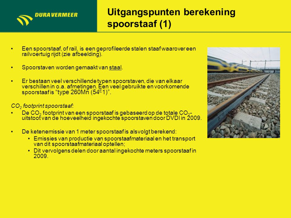Uitgangspunten berekening spoorstaaf (1) Een spoorstaaf, of rail, is een geprofileerde stalen staaf waarover een railvoertuig rijdt (zie afbeelding).