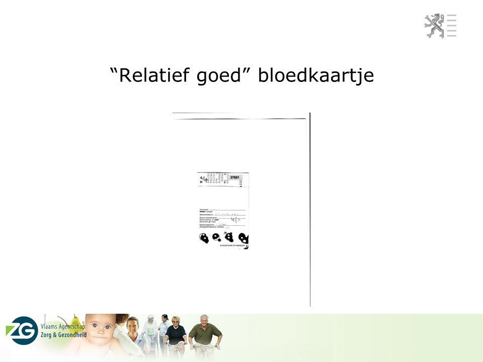 """""""Relatief goed"""" bloedkaartje"""