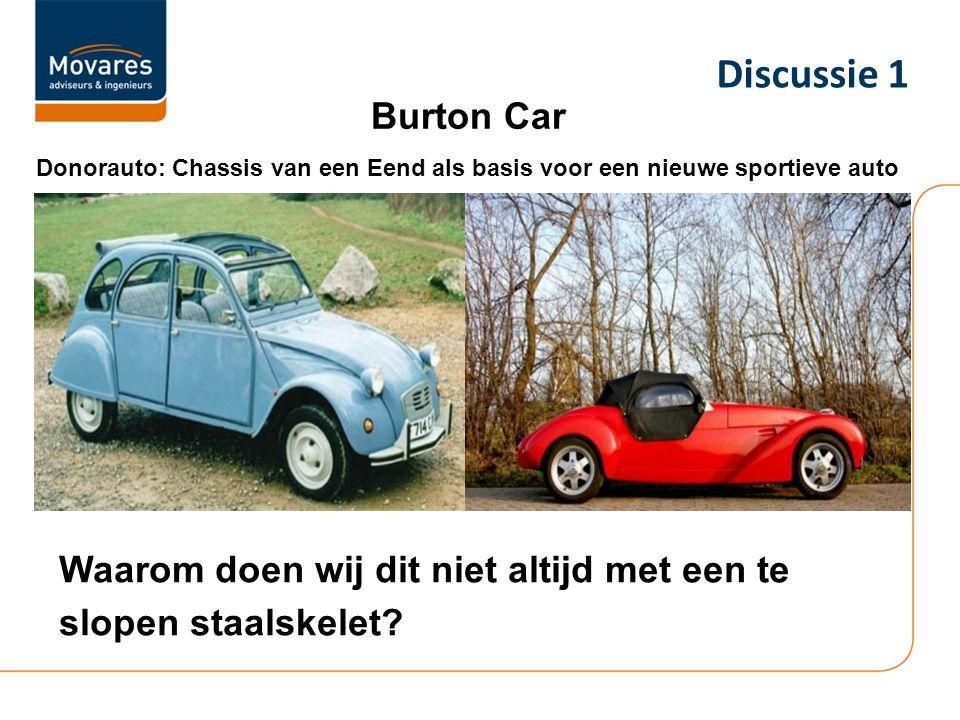 Burton Car Donorauto: Chassis van een Eend als basis voor een nieuwe sportieve auto Waarom doen wij dit niet altijd met een te slopen staalskelet? Dis