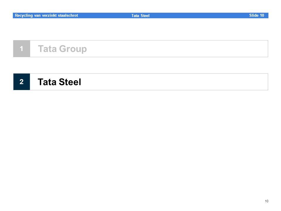 Slide Tata Steel 10Recycling van verzinkt staalschrot 10 Tata Steel Tata Group 1 2