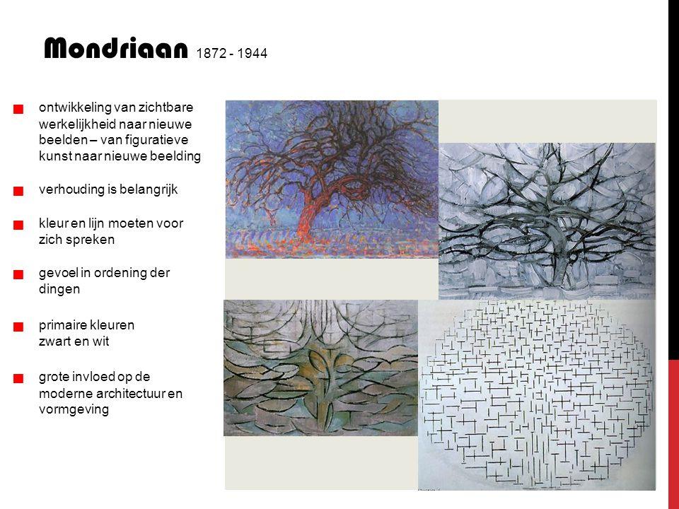 Mondriaan 1872 - 1944   ontwikkeling van zichtbare werkelijkheid naar nieuwe beelden – van figuratieve kunst naar nieuwe beelding   verhouding i