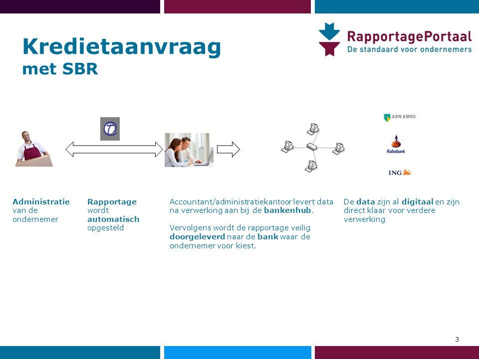 Administratie van de ondernemer De data zijn al digitaal en zijn direct klaar voor verdere verwerking Rapportage wordt automatisch opgesteld Accountan