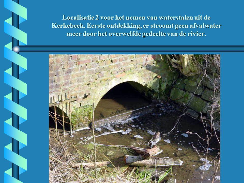 Localisatie 2 voor het nemen van waterstalen uit de Kerkebeek.