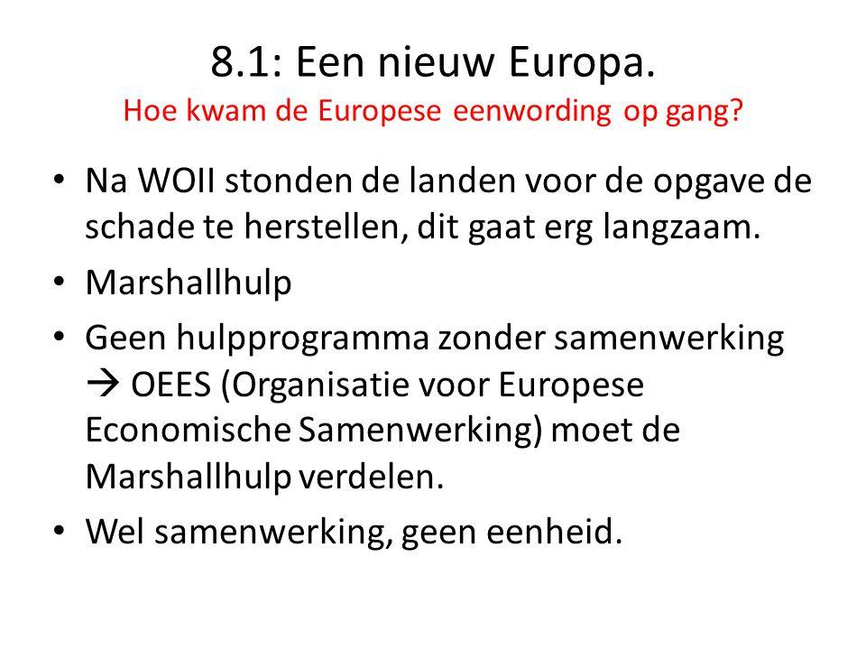 8.1: Een nieuw Europa.Hoe kwam de Europese eenwording op gang.