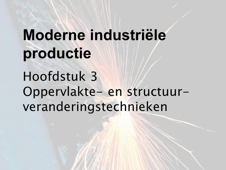 Hoofdstuk 3 Oppervlakte- en structuur- veranderingstechnieken Moderne industriële productie