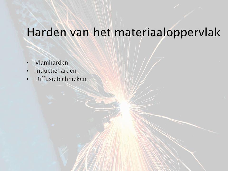 Harden van het materiaaloppervlak Vlamharden Inductieharden Diffusietechnieken