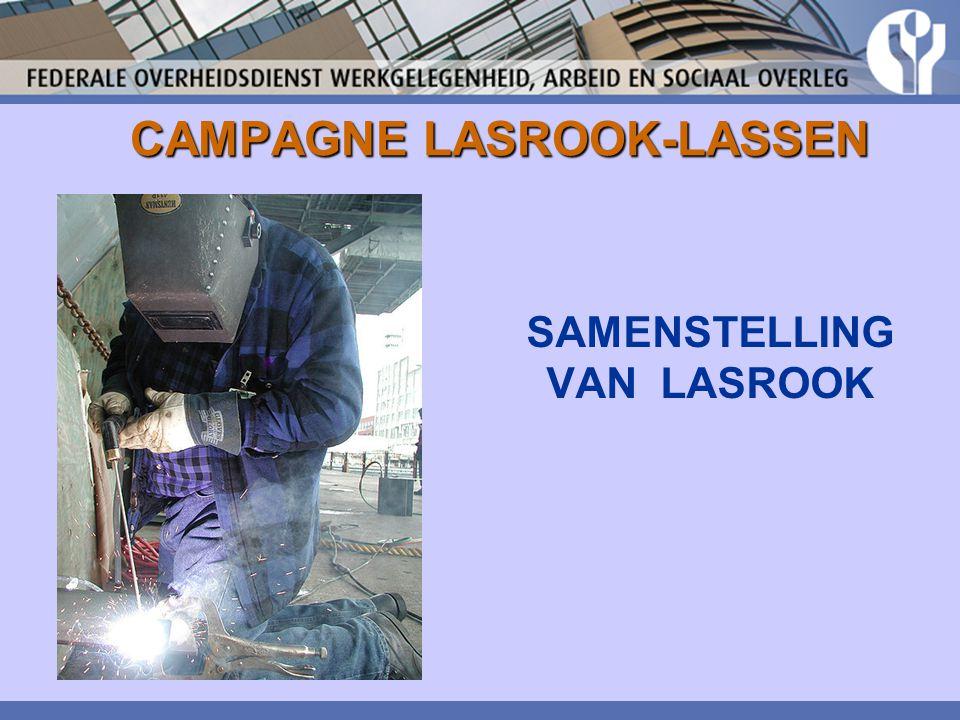 CAMPAGNE LASROOK-LASSEN (KUNSTMATIGE) OPTISCHE STRALING UV: lasogen = ontsteking van bind- en hoornvlies IR: lensdegeneratie; katarakt Zichtbaar licht: netvliesverbranding