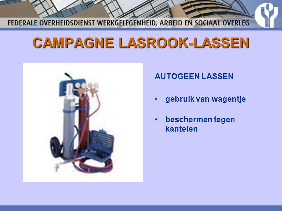 CAMPAGNE LASROOK-LASSEN AUTOGEEN LASSEN gebruik van wagentje beschermen tegen kantelen