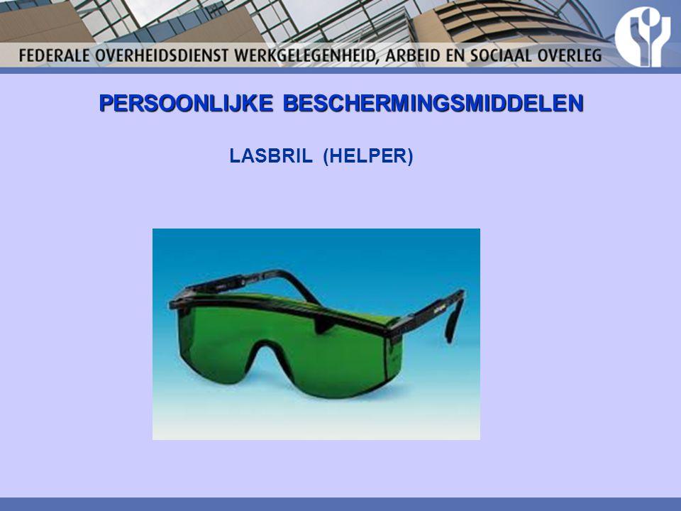 PERSOONLIJKE BESCHERMINGSMIDDELEN LASBRIL (HELPER)