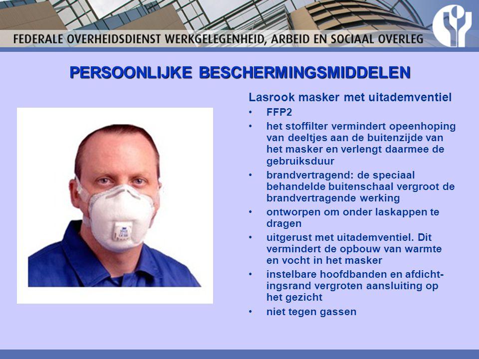 PERSOONLIJKE BESCHERMINGSMIDDELEN Lasrook masker met uitademventiel FFP2 het stoffilter vermindert opeenhoping van deeltjes aan de buitenzijde van het