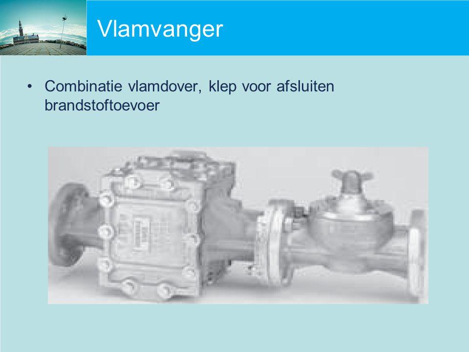 Vlamvanger Combinatie vlamdover, klep voor afsluiten brandstoftoevoer
