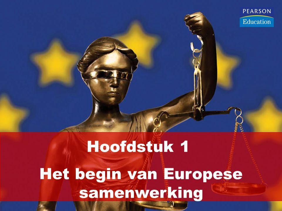 Hoofdstuk 1 Het begin van Europese samenwerking