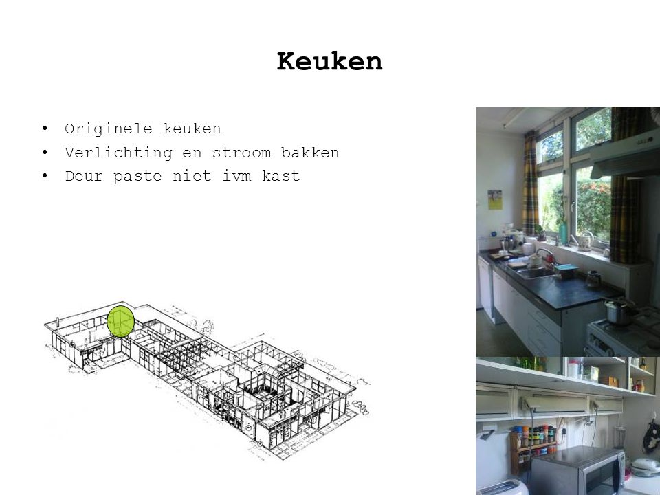Keuken Originele keuken Verlichting en stroom bakken Deur paste niet ivm kast
