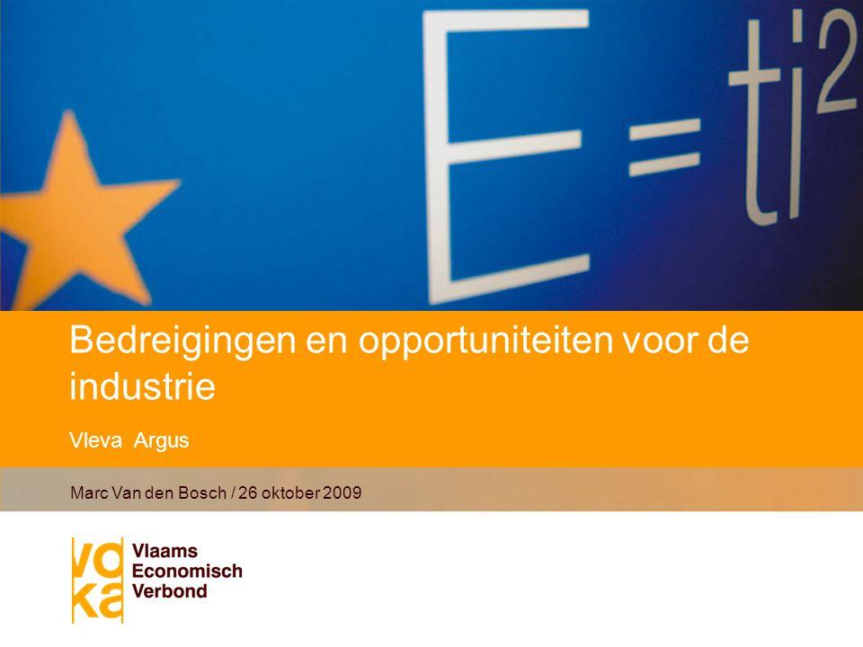 Bedreigingen en opportuniteiten voor de industrie Vleva Argus Marc Van den Bosch / 26 oktober 2009