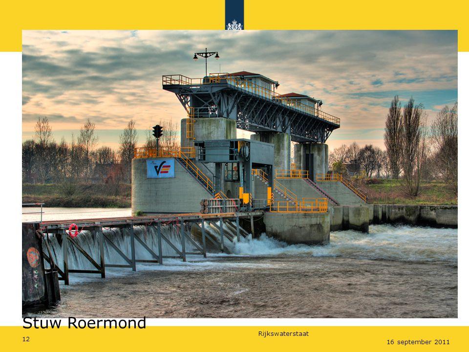 Rijkswaterstaat 16 september 2011 Stuw Roermond 12