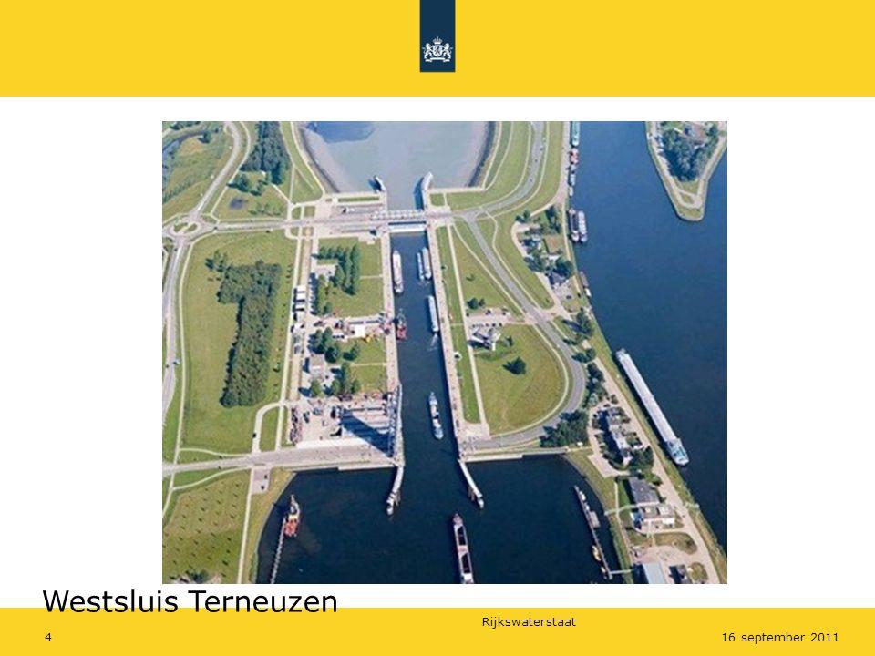 Rijkswaterstaat 416 september 2011 Westsluis Terneuzen