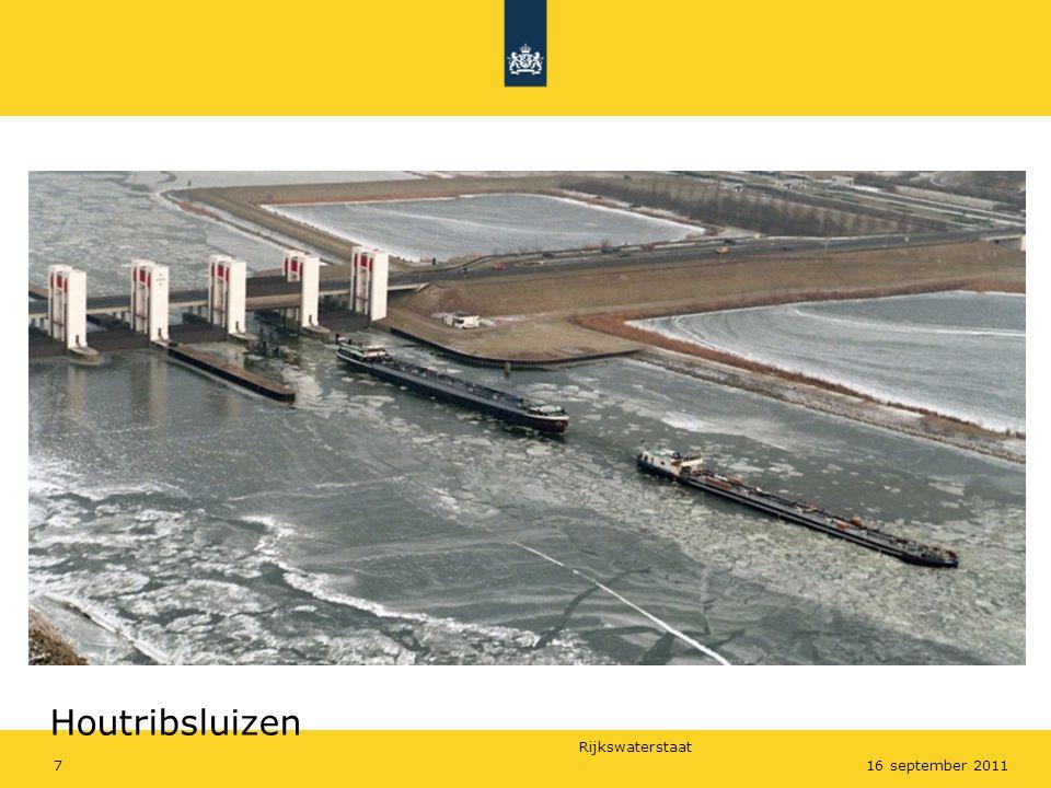 Rijkswaterstaat 716 september 2011 Houtribsluizen