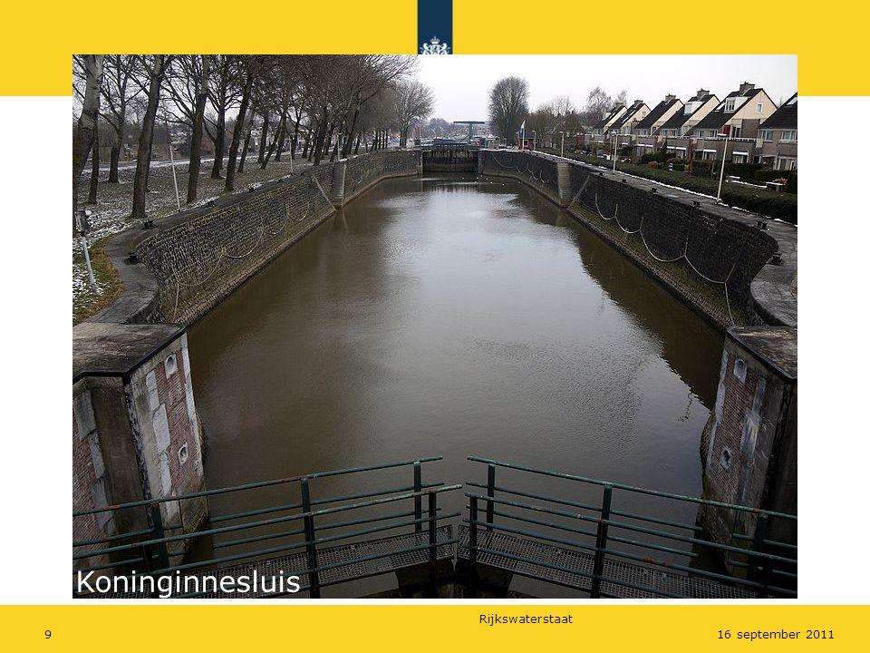 Rijkswaterstaat 916 september 2011 Koninginnesluis