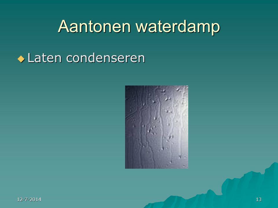 12-7-201413 Aantonen waterdamp  Laten condenseren