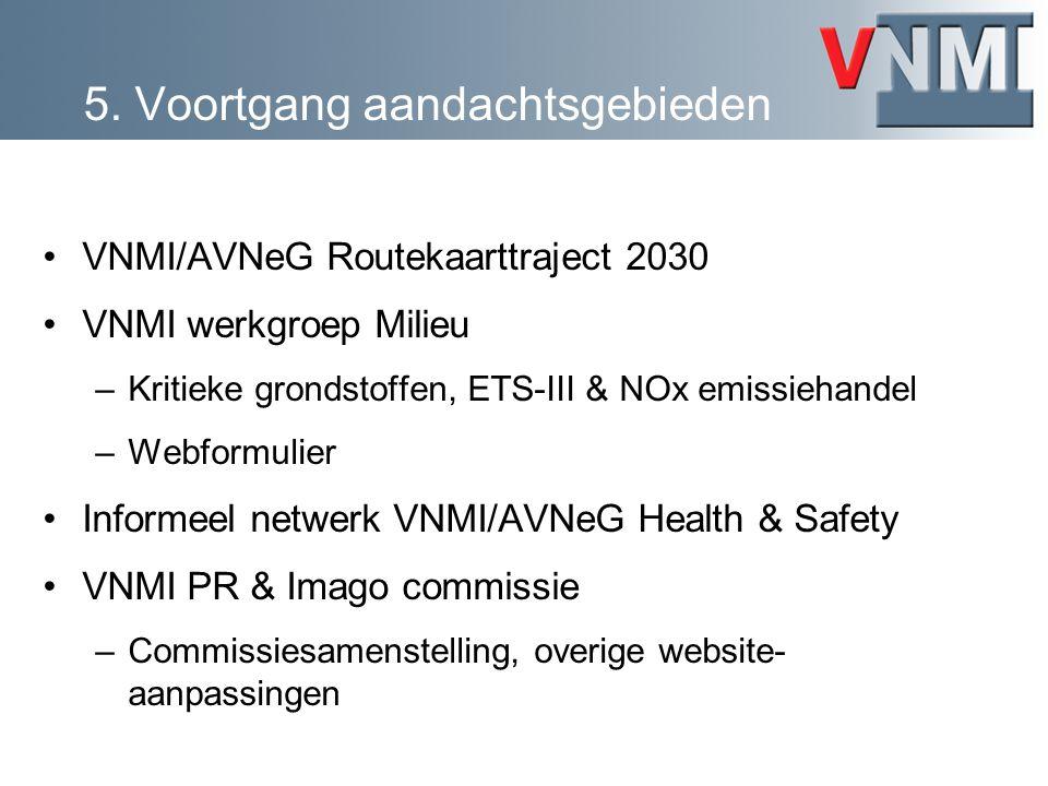VNMI/AVNeG Routekaarttraject 2030 VNMI werkgroep Milieu –Kritieke grondstoffen, ETS-III & NOx emissiehandel –Webformulier Informeel netwerk VNMI/AVNeG