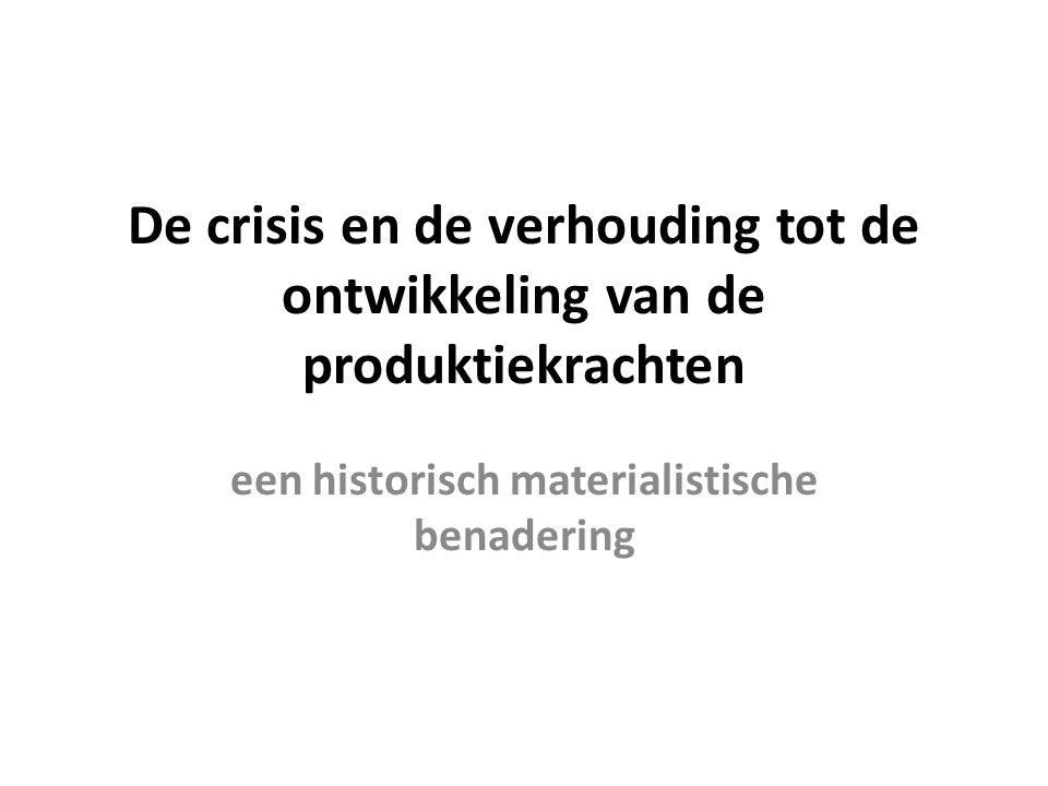 De crisis en de verhouding tot de ontwikkeling van de produktiekrachten een historisch materialistische benadering