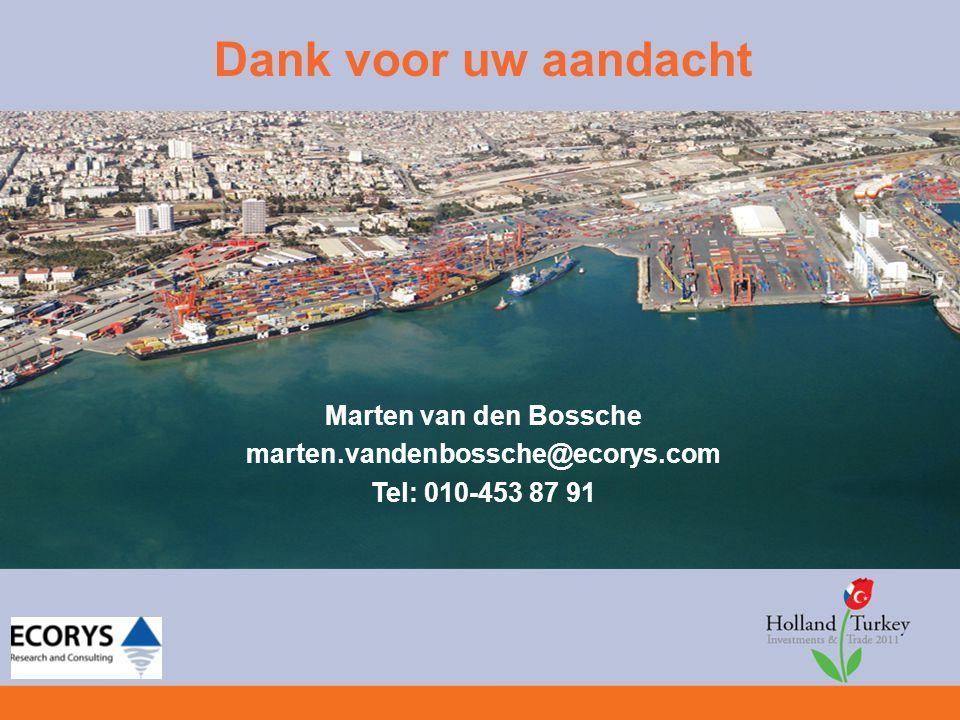 Dank voor uw aandacht Marten van den Bossche marten.vandenbossche@ecorys.com Tel: 010-453 87 91