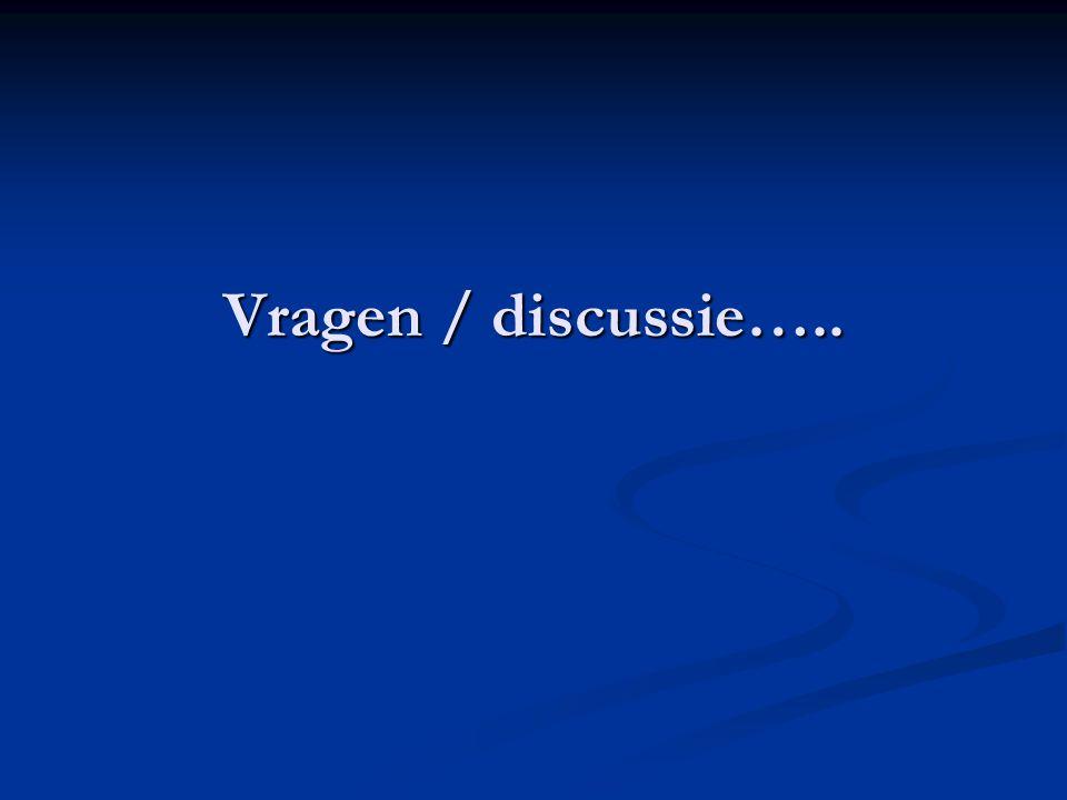 Vragen / discussie…..