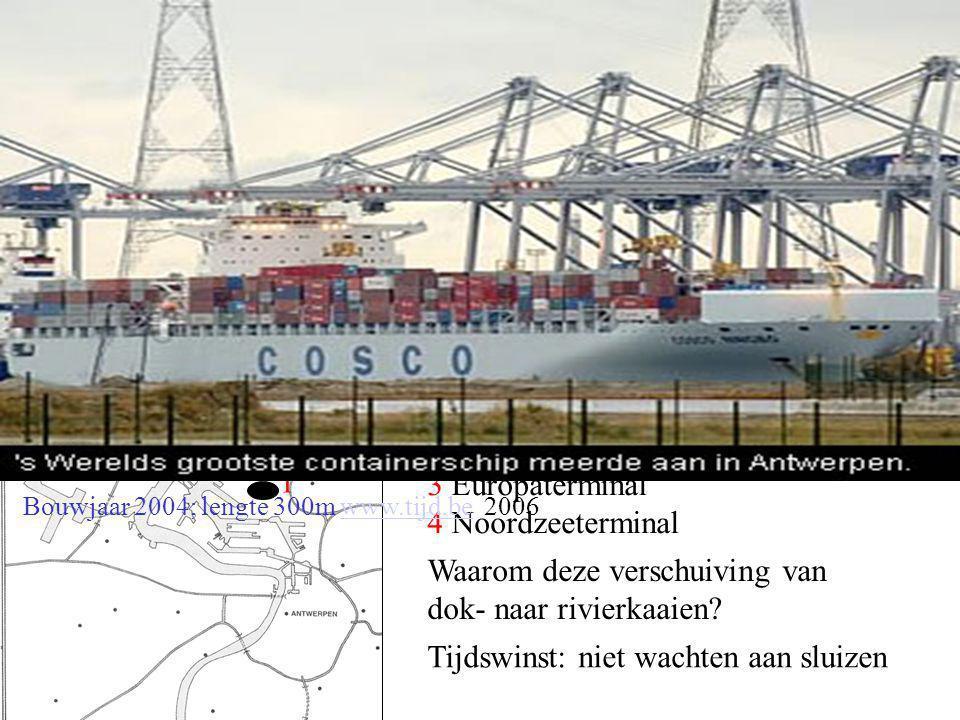 1 Zeer snelle behandeling van goederen: tijdswinst, 2 Past op alle vervoersmodi: schip, trein, vrachtwagen 3 Maakt goederentransport over heel de were