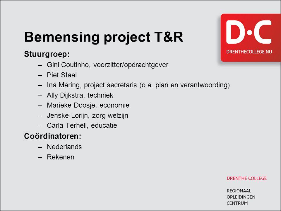 Centraal Ontwikkelde Examens (COE's) Vanaf schooljaar 2013 zullen de domeinen lezen en luisteren Nederlands en alle domeinen Rekenen voor mbo-niveau 4 landelijk geëxamineerd worden.