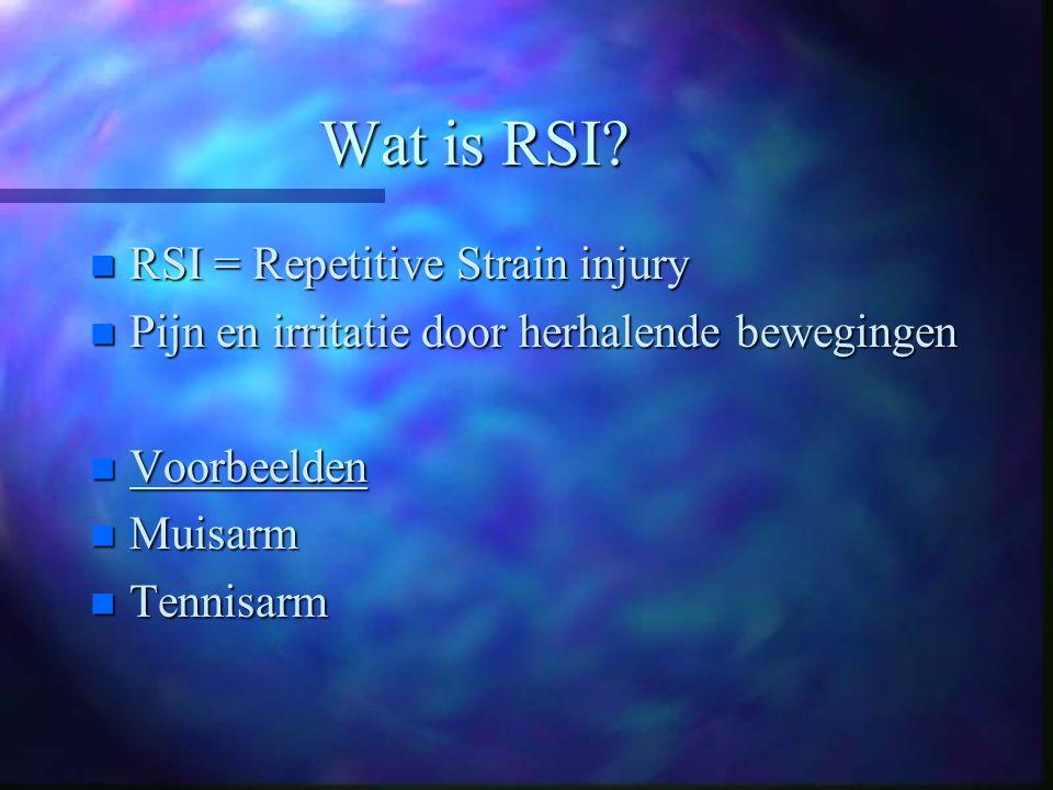 Wat is RSI.