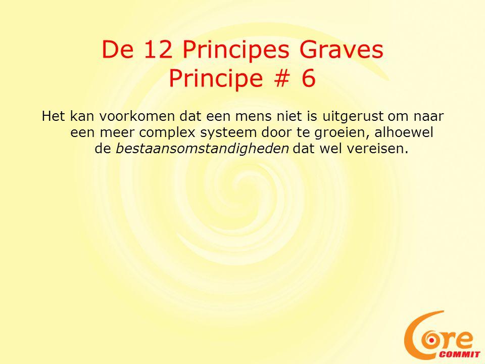 De 12 Principes Graves Principe # 6 Het kan voorkomen dat een mens niet is uitgerust om naar een meer complex systeem door te groeien, alhoewel de bestaansomstandigheden dat wel vereisen.