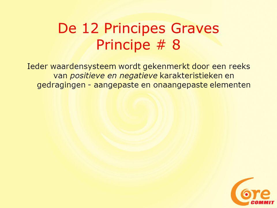 De 12 Principes Graves Principe # 8 Ieder waardensysteem wordt gekenmerkt door een reeks van positieve en negatieve karakteristieken en gedragingen - aangepaste en onaangepaste elementen