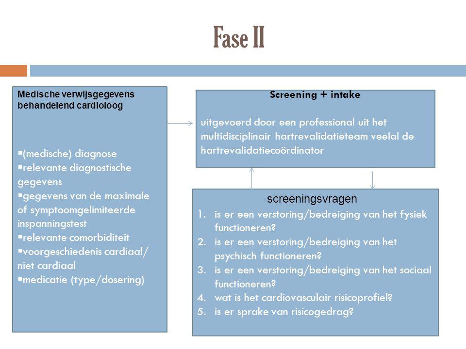  (medische) diagnose  relevante diagnostische gegevens  gegevens van de maximale of symptoomgelimiteerde inspanningstest  relevante comorbiditeit