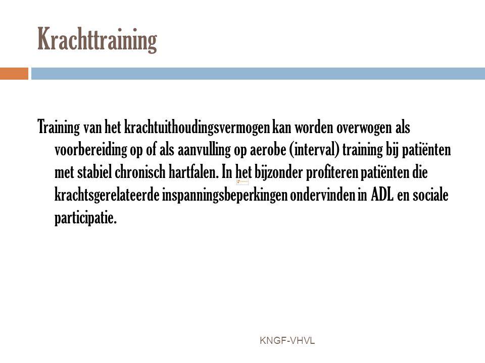 Krachttraining Training van het krachtuithoudingsvermogen kan worden overwogen als voorbereiding op of als aanvulling op aerobe (interval) training bi