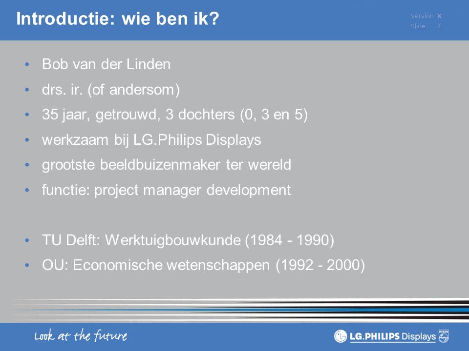 VersionX Slide 2 Bob van der Linden drs.ir.
