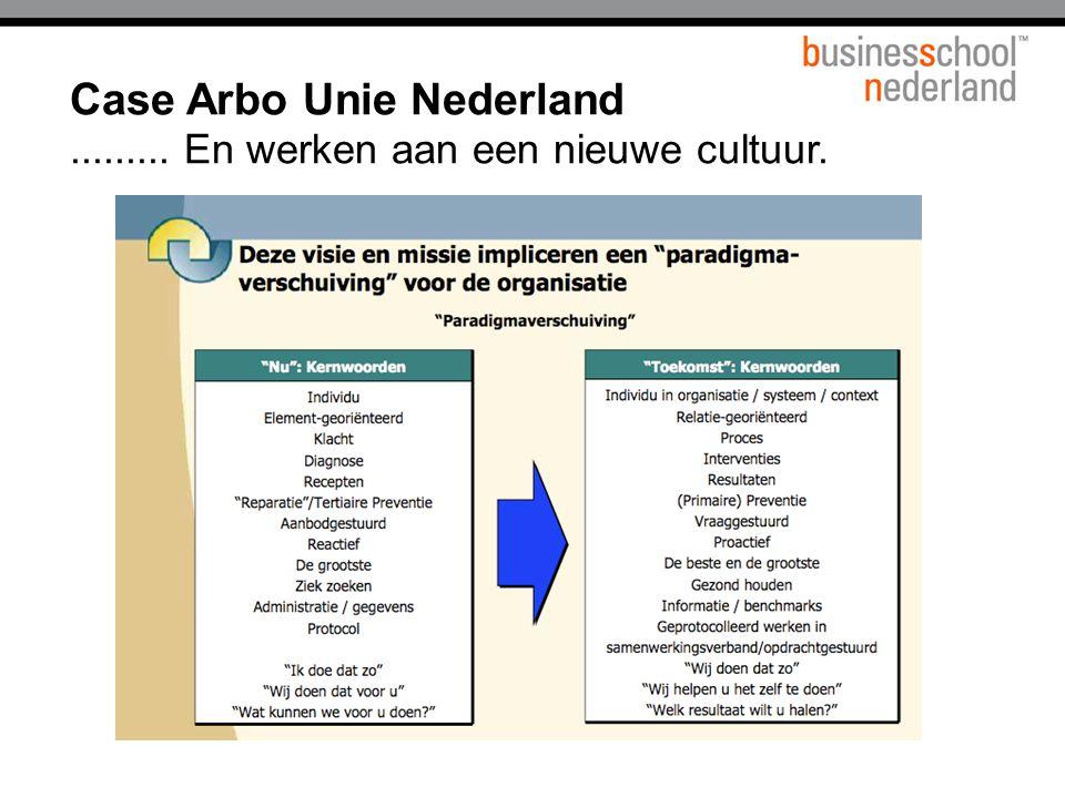 Case Arbo Unie Nederland......... En werken aan een nieuwe cultuur.