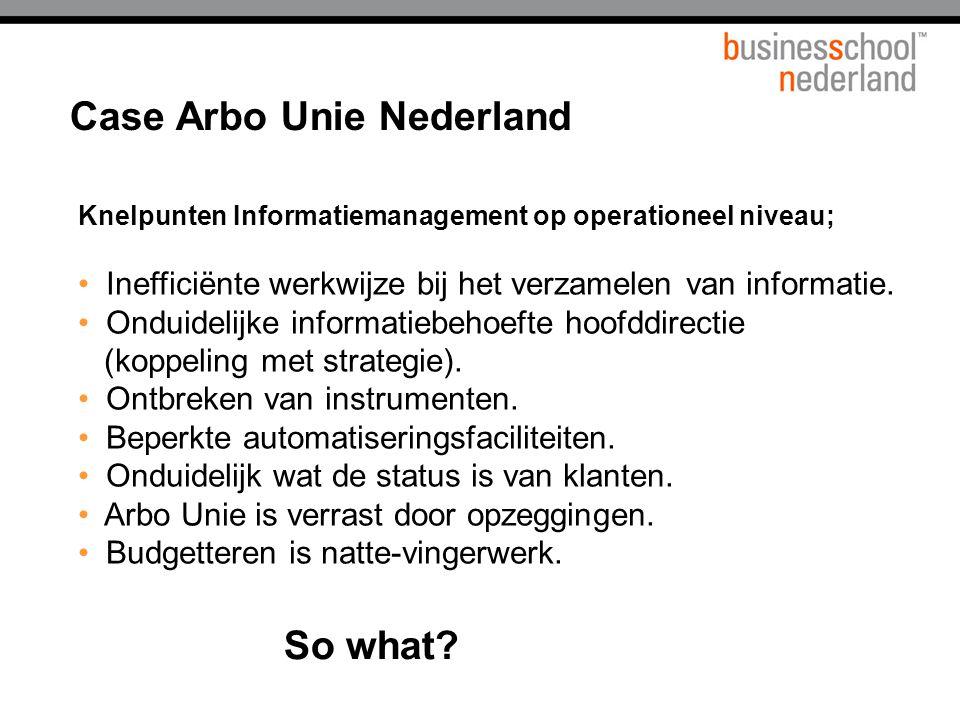 Knelpunten Informatiemanagement op operationeel niveau; Inefficiënte werkwijze bij het verzamelen van informatie.