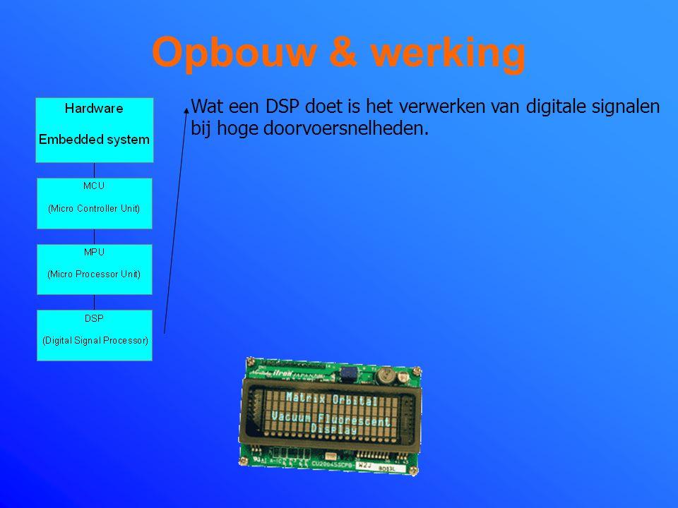 Opbouw & werking Met MCU en MPU bij elkaar heb je dus het geheugen in ROM en RAM samen met ingebouwde microprocessoren.
