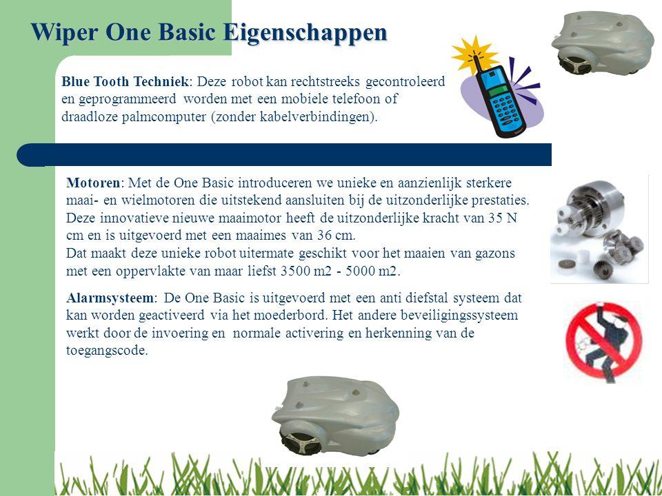 Wiper One Basic Eigenschappen Motoren: Met de One Basic introduceren we unieke en aanzienlijk sterkere maai- en wielmotoren die uitstekend aansluiten