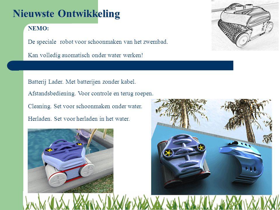 Nieuwste Ontwikkeling NEMO: De speciale robot voor schoonmaken van het zwembad. Kan volledig auomatisch onder water werken! Batterij Lader. Met batter