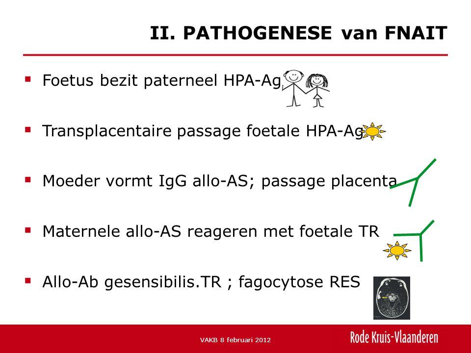  -Trombocytopenie bij foetus/neonatus tgv maternele IgG alloantistoffen tov paternaal HPA-Ag II.