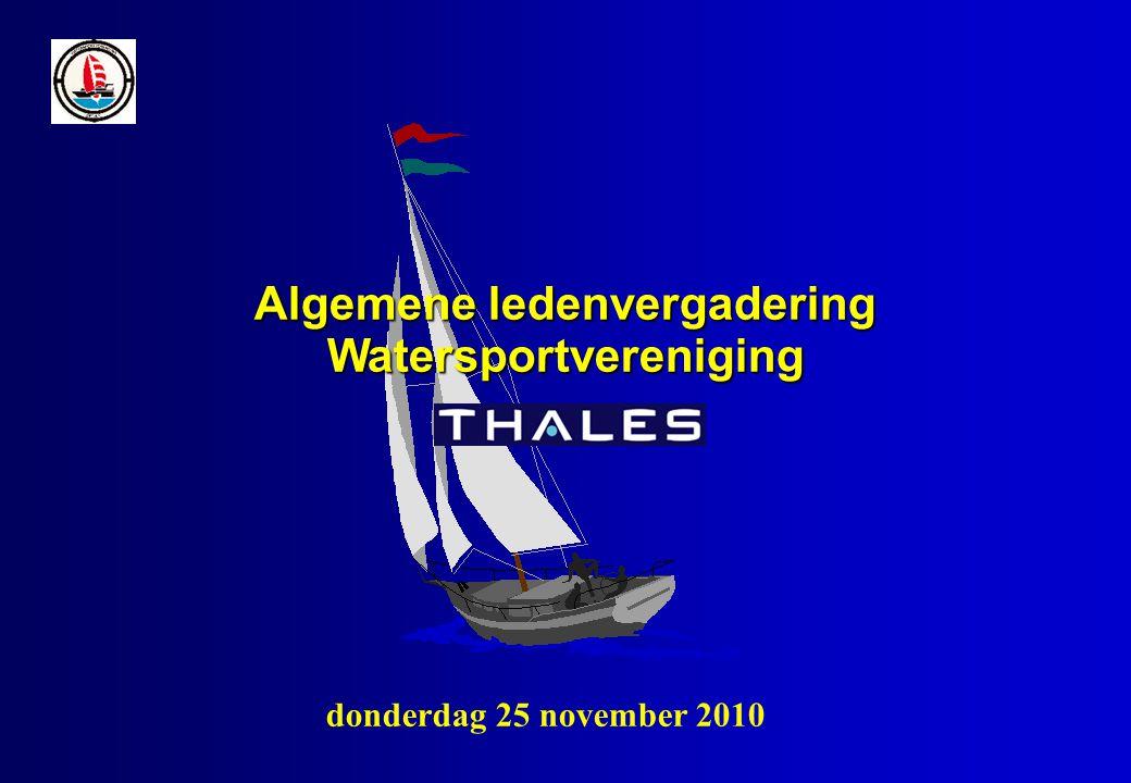 Algemene ledenvergadering Watersportvereniging donderdag 25 november 2010