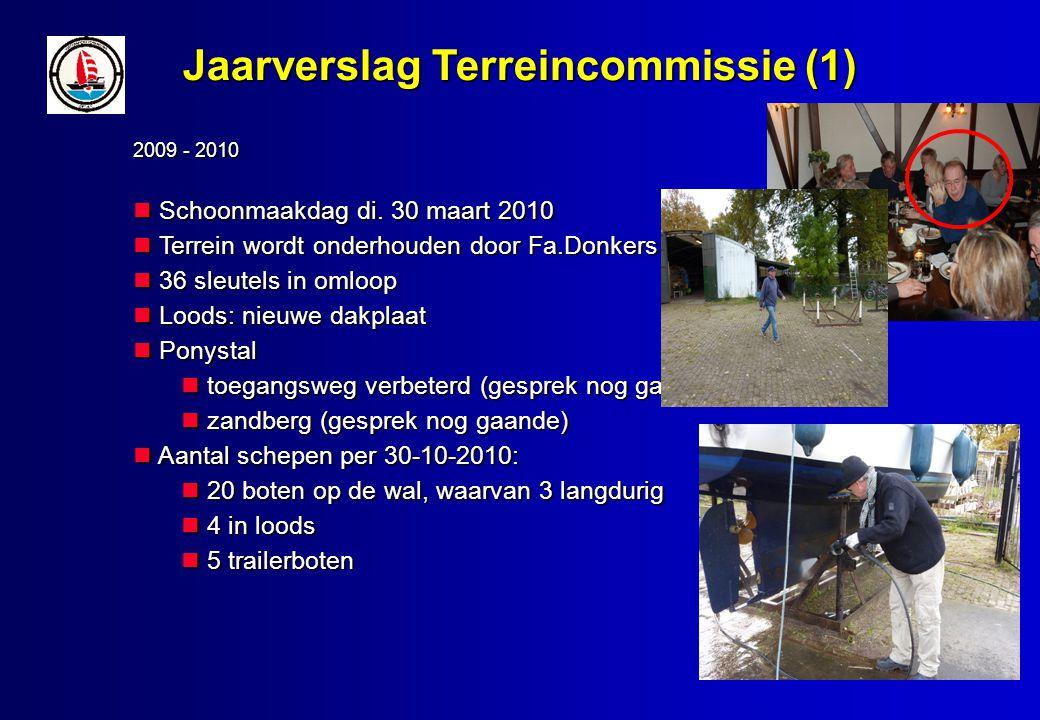 Jaarverslag Terreincommissie (1) 2009 - 2010 Schoonmaakdag di.
