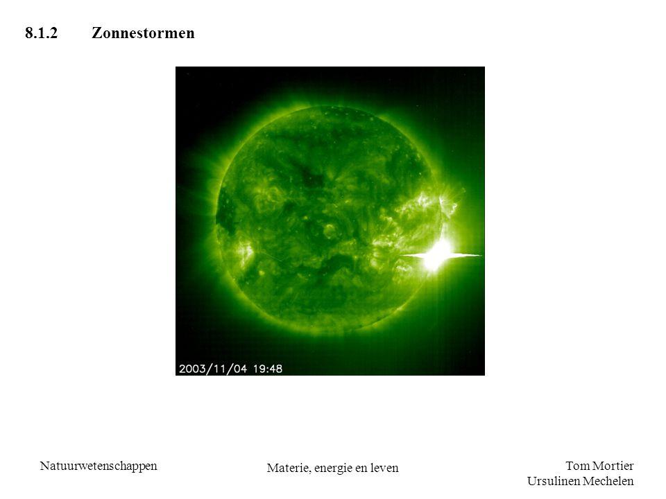 Tom Mortier Ursulinen Mechelen Natuurwetenschappen Materie, energie en leven 8.1.2Zonnestormen