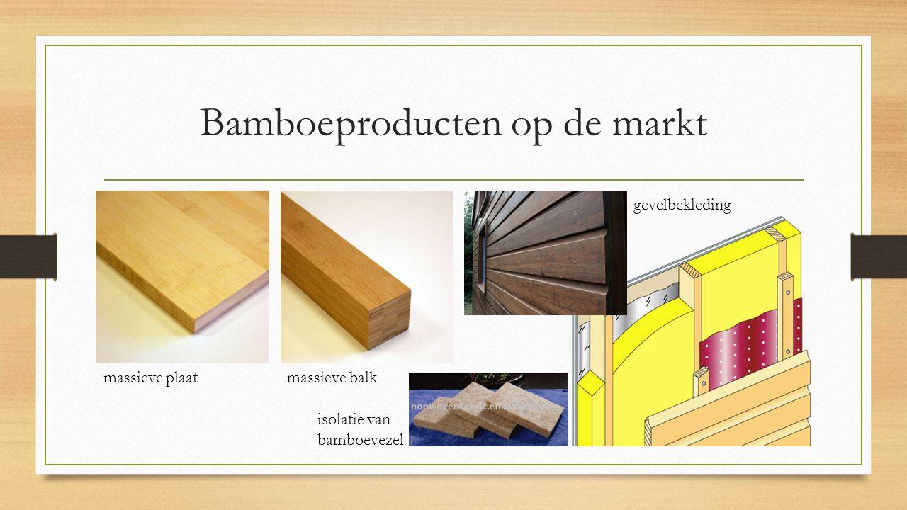 Bamboeproducten op de markt massieve plaat massieve balk gevelbekleding isolatie van bamboevezel